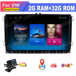 9 Android10 4-core Car Stereo 2+32gb Gps Radio For Vw Golf Skoda Seat Subwoofer