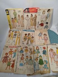 Vtg Doll Clothes Childrens Womenand039s Patterns 1960s 70and039s Vintage Cut