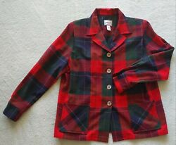 Pendleton Plaid Jacket Size L Belonging To Maxene Of The Andrews Sisters