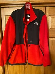 Vintage Northface Women#x27;s size XL red and black fleece jacket $50.00