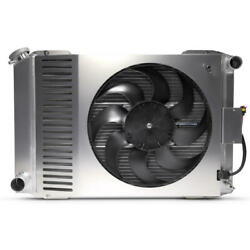 Proform Radiator And Cooling Fan Kit 69680.1 Slim-fit Aluminum For 79-93 Mustang
