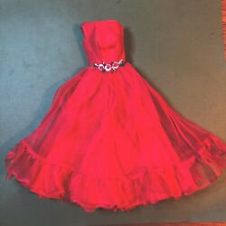 #1614 Junior Prom 1965 Red evening gown vintage Barbie doll $64.99