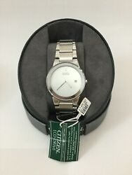 Citizen Eco-drive Plane Date Mens Large Face Stainless Steel Watch