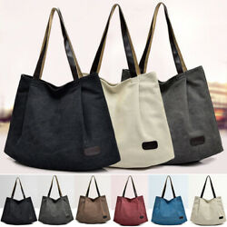Ladies Canvas Bags Handbag Travel Shoulder Bags Hobo Purse Messenger Tote Bag $14.99