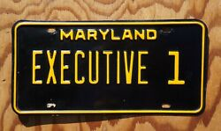 1967 Maryland Governor License Plate Low 1 - With Letter From State Police