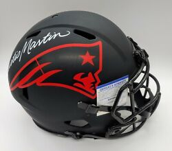New England Patriots Curtis Martin Signed Authentic Eclipse Helmet