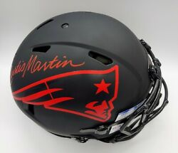 Curtis Martin Signed Pats Fs Eclipse Speed Authentic Helmet Psa Coa