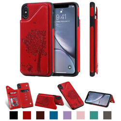TPU Magnetic Soft For iPhone XS Max XR Leather Wallet Card Slot Case Soft Cover $9.85
