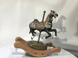 Willitts Melodies Carousel Waltz Horse Music Box - Vintage- No Box- Limited Ed.
