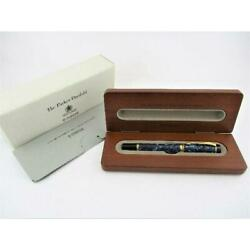 Unused Parker Fountain Pen 18k Duofold Marble Blue Shipping From Japan No.79