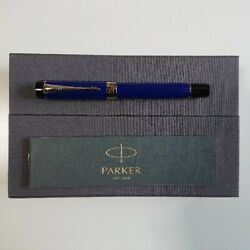 Parker Fountain Pen Duofold Centennial Blue Andamp Black Nibb F From Japan No.92