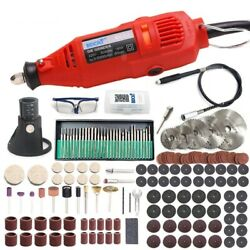 Mini Electric Rotary Drill 180w Variable Speed Polishing Machine Dremel Tool Set