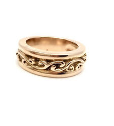 Bill Wall 18k Rose Gold Wave Commitment Ring R307g 12.7gr Sz 6.25 4000