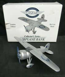 Tighar Collector's Series Limited Edition Diecast Airplane Bank Jm63