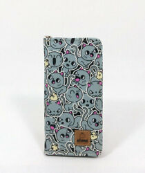 Cute Mini Cat Large Wallet with all around zipper and 13 pockets