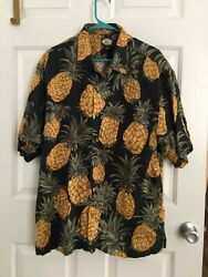 Tommy Bahama: TROPICAL PINEAPPLE 100% LINEN: MEN#x27;S LARGE $19.50