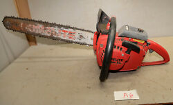 Vintage Homelite Super Xl Chainsaw Ut 10045e Big Red Logging Saw Collectible A6