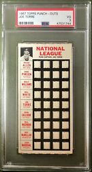 1967 Topps Punch-outs Joe Torre Psa 3 Atlanta Braves Test Issue