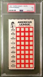1967 Topps Punch-outs John Romano Psa 5 Cincinnati Reds Test Issue