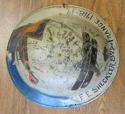 Named Soldier Ww1 Aef Us 87th Div 312th Battalion Painted Helmet Fighting Planes