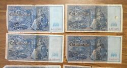 Group Of 15 Large Size 1908 German Reichsbank 100 Mark Notes Paper Money