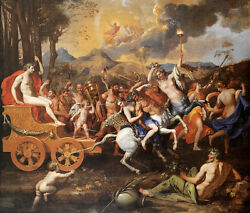 Huge Oil Painting The Victory Of Bacchus With Carriage Angels Naked Women 48