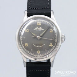 Mido Multifort Extra Original Gray Dial Vintage Watches 1950s Japan 20201203