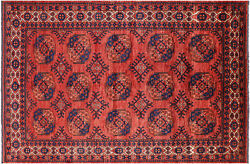 Fine Turkmen Hand-knotted Wool On Wool Rug 6and039 4 X 9and039 8 - Q5212