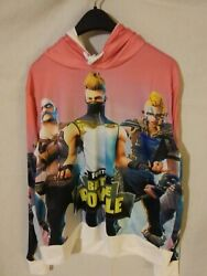 Womenand039s Fortnite Battle Royale Full Graphic Pink Hoodie Size Xl