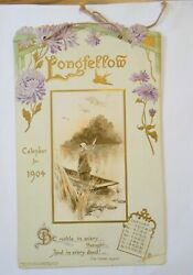1904 Longfellow Calendar By Raphael Tuck And Sons Embossed Cover Complete Year