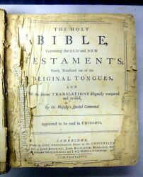 The Holy Bible Containing The Old New Testaments Very Rare 1768 Original Book.