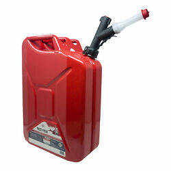Garage Boss 5 Gallon Press N Pour Metal Jerry Gas Can Portable Fuel Container