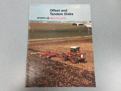 New Holland Offset And Tandem Disks Sales Brochure 16 Pages