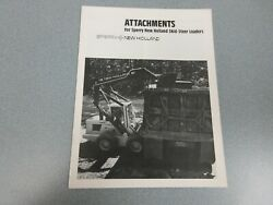 New Holland Attachments For Skid-steer Loaders Sales Brochure 8 Pages