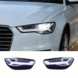 For Audi A6 Led Headlights Projector All Led Drl Replace Oem Halogen 2012-2018