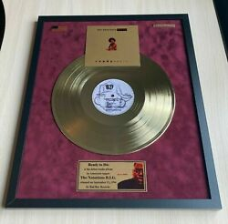 The Notorious Big Ready To Die 1994 Vinyl Gold Metallized Mounted Record