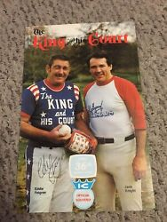 King And His Courts Signed By Eddie Feigner Program 1981