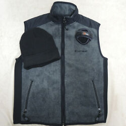 American Eagle Outfitters Men's Fleece Vest With Hat And Ear Muffs, Sz Small