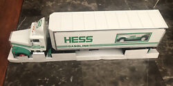 1992 Hess. 18 Wheeler And Racer-small Damage In Box And Lost Chrome In Back Truck