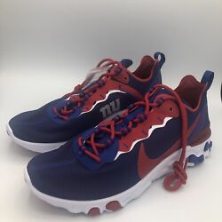 Nike New York Giants React Element 55 Nfl Running Shoes Ck4876-400 Size Mens 9.5