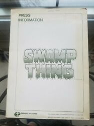 Rare Vintage 1981 Swamp Thing Press Release Kit W/ 10 Bandw Photos Complete...