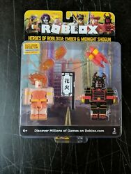 Sealed New Roblox Celebrity Heroes Of Robloxia Ember And Midnight Action Figures