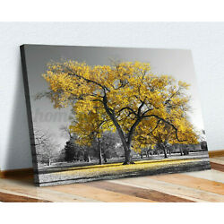 Canvas Wall Art Prints Unframed Large Tree Yellow Leaves Picture Home Room Decor $9.59