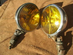 1930and039s-1940and039s Pair Of 6 1/2 Inch Sears 4 Star Fog Lights