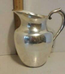 Antique Watrous Sterling Silver Water Pitcher 1.1 Pounds Large Pitcher