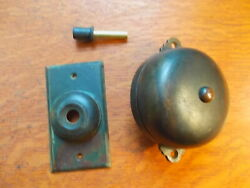 Antique Copper Brass Mechanical Doorbell And Push Button By Reading Hardware C1885