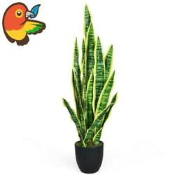 Artificial Snake Plant 35.5 Fake Sansevieria Indoor-outdoor Decoration