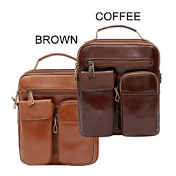 Genuine Leather Shoulder Bag for Men Women Hiking Handbag Crossbody Bag TOTE $49.90