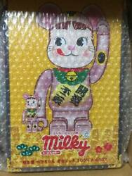 Medicom Toy Be@rbric Beckoning Cat Peko-chan Peach Gold Plated 100 And 400