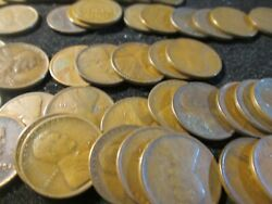 1922-d Lincoln Wheat Cent Roll 50 Coins Good Plus